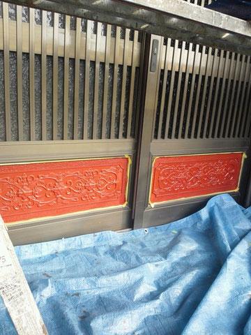 玄関前鉄製飾りの錆止め