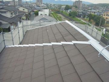 屋根の鉄板錆止め処理後