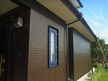 外壁塗装上塗りダークブラウン 熊本