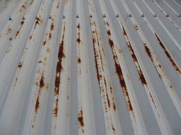 折半屋根のサビ 鉄部