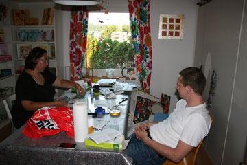 Workshop für eine Hochzeits Tischdekoration