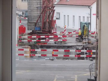 Baustelle, ehemalige Brücke