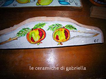 listelli in maiolica