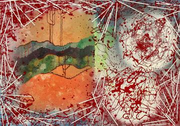 """Francesca Balacco e G.M.Zago cm 100x70 """"Strati dell'anima"""" 2010"""