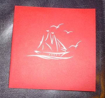 Segelschiff - die Karte habe ich auf der Infa in Hannover gekauft!
