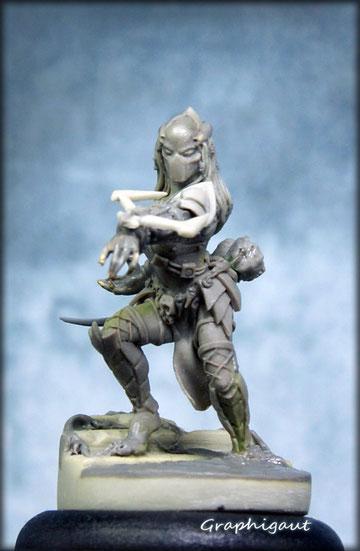 Predator femelle, predette, predastore, concept et sculpture par Gautier Giroud, Graphigaut