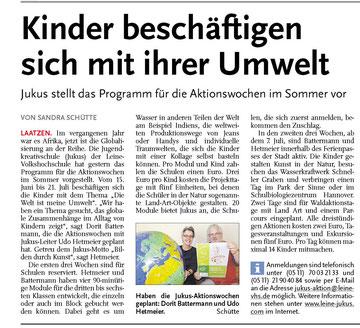 Leine-Nachrichten 07.05.2011