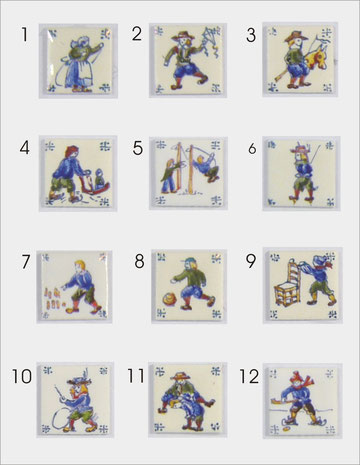 Children games miniatur tiles