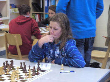 Jorim macht zwar ein kritisches Gesicht, spielte jedoch ein sehr gutes Turnier!