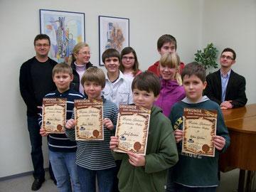 Trompetensterne in Bronze vergeben