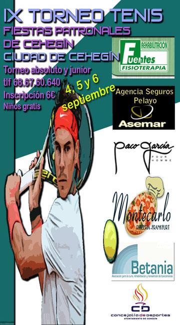 Club Tenis Cehegín. Tenis y Pádel Cehegín.