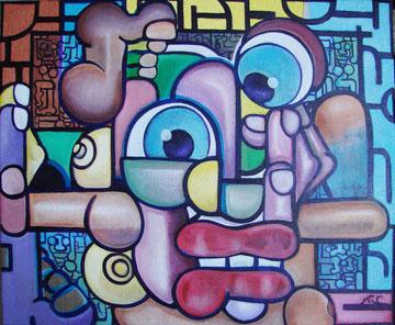 acrylique sur toiles 18x15