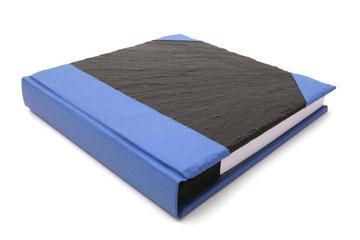Schieferbuch Komfort - Bibliotheksleinen Blau