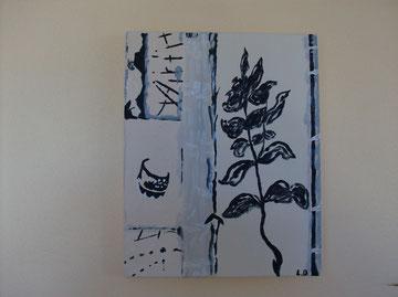 DETENTE - Réf. N° 27 - Réalisation: Acrylique - L.D -24x30 - PRIX: 30 euros