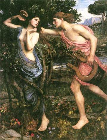 John William Waterhouse, Apollo und Daphne, 1908