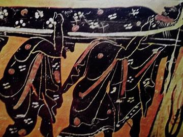 Mythologischer Trauerzug (Achilles auf der Totenbahre?)