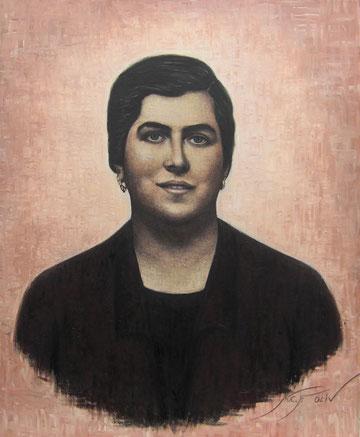 María Díaz González  'matancera' - 60 x 73 cms.