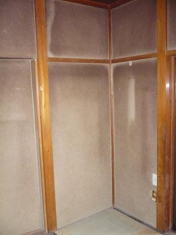 静岡県森町・H邸「室内聚楽壁塗装」施行前