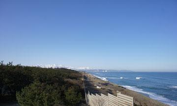 今朝のうみまちの景色(大潟区・夕日の見える丘公園展望台から)