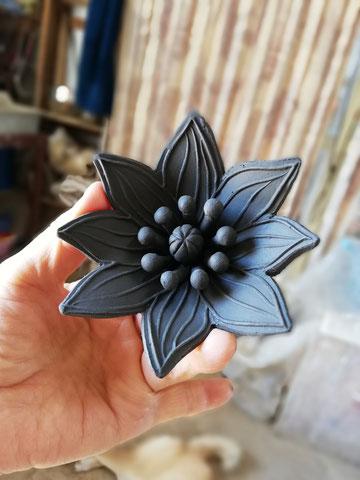 陶芸家のブログ 陶芸家 陶芸 笠間焼き 花 粉引作品