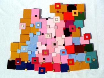 Ellen Roß: Auf dem Weg nach Bagdad,, 2011, Acryl und Lack auf Holz, ca. 55 x 65 cm