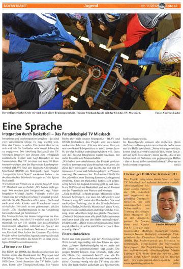 Artikel der BayernBasket Dez. 2012 - Zum Vergrößern Klicken