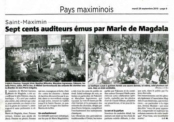 Concert 2010 à Saint Maximin