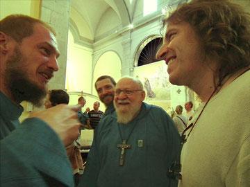 Frère Denis, avec les franciscains et Michel GARNIER