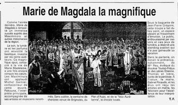 Concert Basilique Saint Maximin 2005