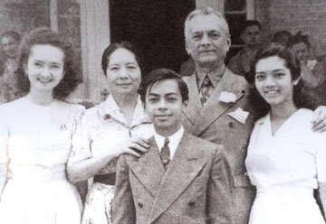 Manuel L. Quezon (Second from Right) and Family