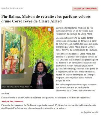 La Corse selon l'artiste Claire Allard s'expose à Pin Balma