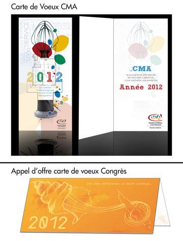 Propositions de cartes de voeux pour la CMA et le Congrès - Atelier B2