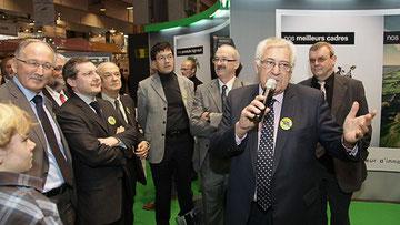 Salon agriculture 2012, inauguration de l'espace Manche