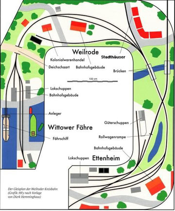 Aktueller Gleisplan Dezember 2012. Gezeichnet von Herbert Fackeldey            ( Schmale Spuren )