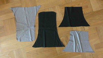 Anfertigen der Teile für eine Pilgertasche - Oberstoff + Futter