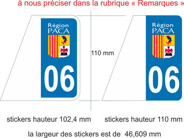 STICKERS ¨PLAQUES IMMATRICULATION