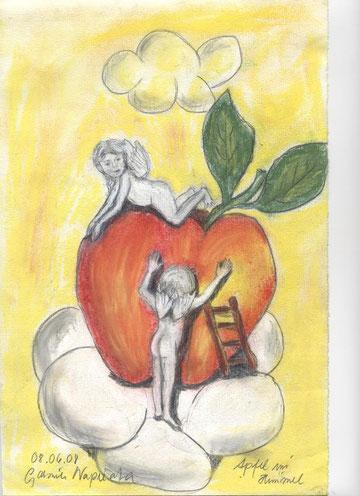 Engel mit Apfel