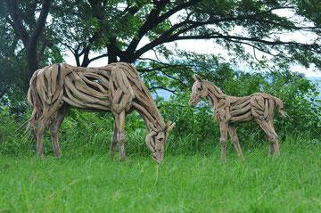 """""""Fohlen Nummer 4 stehend, Stockmaß 104 cm"""" Driftwood Art Horse Foal"""