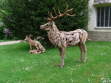 """""""Driftwood Art Stag Rothirsch mit Geweih"""" von Abdul Ghofur"""