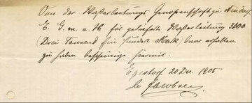 Auszug aus Protokoll von 1906