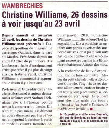"""Article de """"La voix du Nord"""", jeudi 14 avril 2011"""