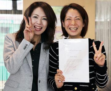 福島店勤務の赤間さんも当スクールでJNE2級とカルジェルライセンスを取得しました