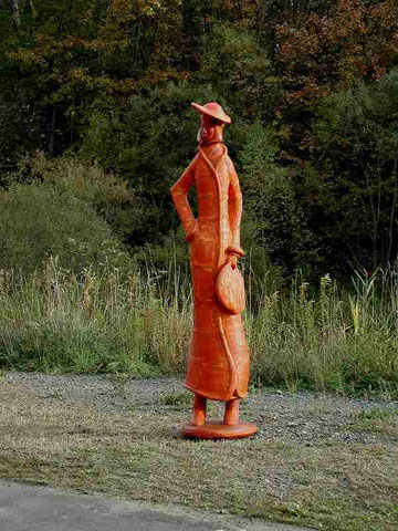 """Young Lady with Orange Coat"" 2007 (over 7foot tall)"