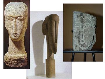 Le enigmatiche tre sculture di teste Modiglianee, oggetto del mistero livornese dei tre falsi
