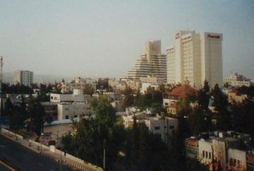 Blick aus dem Hotelfenster auf Amman