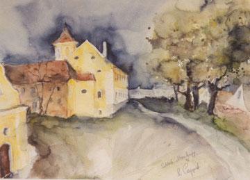 Schloss Atzenbrugg, Gartenansicht