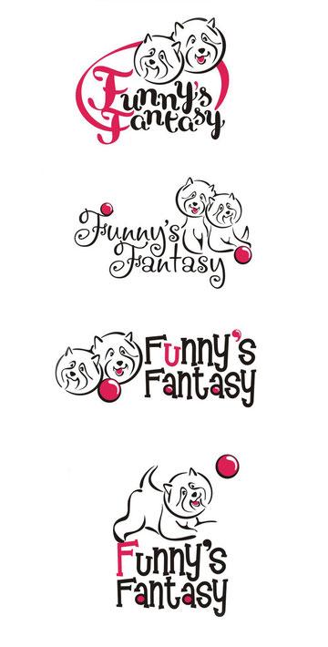 эскизы логотипа для питомника Funny's Fantasy
