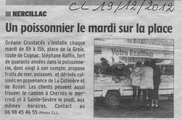 Photo Charente Libre 19/12/2012