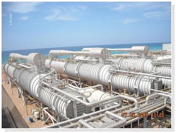 ÉMIRATS ARABES UNIS - Centrale évaporation, dessalement eau de mer