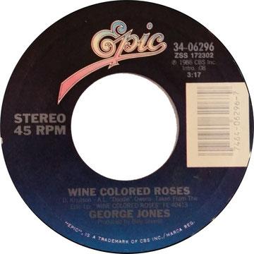 George Jones - Wine Colored Roses(Rare Video On Hee Haw 1987
